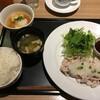 夜デニセットで、豚しゃぶと揚げ出し豆腐を選択した。 (@ デニーズ - @dennys_pr in 豊島区, 東京都)