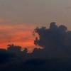 神戸)夕方19時30頃の空。熊か怪獣が吠えている?。