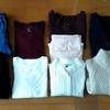 今年の冬服。最終的に9着になりました。