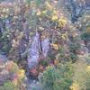 鳴子峡へ紅葉ドライブからの米沢牛ランチ、定義うどんと三角お揚げ