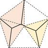 椅子の脚で支柱が多角形の中心から頂へ放射状に延びる形状は意外にも最短ではなく特に正五角形では見慣れない形になる(その3:完結)