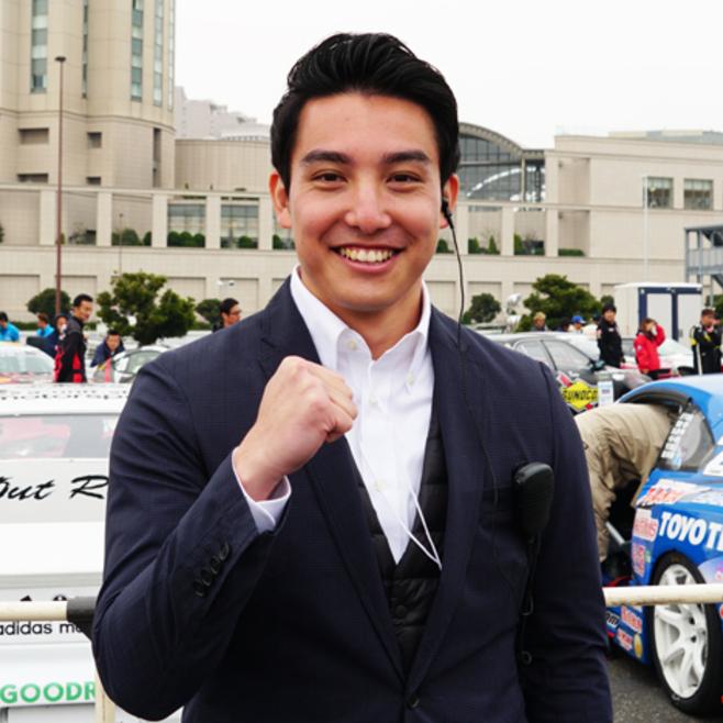 """新人・中垣正太郎アナウンサーが""""英語""""でドリフト選手にインタビュー!"""