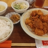 赤坂見附【中国茶房8】週替わりセットD(鶏肉の山椒揚げ) ¥700(税込)