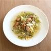 豆とソーセージと白菜のスープ