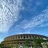 うろこ雲と国立競技場