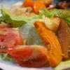 野菜プレートとラッキョウ