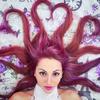 寝っ転がって髪でハート♡を作るハートヘアートリック撮影がおもしろいぞっ!  #hearthair