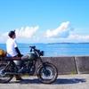 海でホットドッグ&サイダー