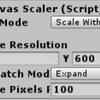 UnityのUIのスケールを自動調整する方法