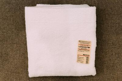 【洗いやすさ、乾きやすさを重視】無印良品の「しなやかバスタオル・薄手」を導入してみました。