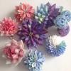 羽二重四匁でつまんだ花々。つまみ細工で作れるお花たち。