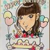 女性への誕生日祝いの似顔絵ギフトを掲載