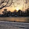 雪景色の旭川中心部の夕景と夜景~常盤公園・旭橋・買物公園・ロータリー【11月25日撮影】