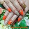 晩夏に似合うカラーを♡ちょっぴりゴージャスなオレンジ&ゴールドで☆ジェル