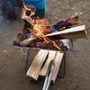 初!キャンプ場で焚き火