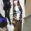 今日の服|アロハシャツをインナーに着る|ゆるくて軽くて薄いレイヤード