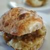 今日の昼ごはん…サバカレーのチーズサンド~⁉