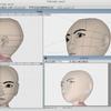 顔のモデリング