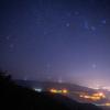 【天体撮影記 第146夜】 宮崎県 矢岳高原展望台から夜景と冬の星座