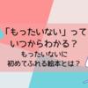 「もったいない」を教えたい!日本独特の心に初めてふれる絵本とは?