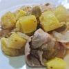 豚しゃぶのジャガイモと玉ねぎのサラダ、りんごジャム風味