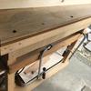 テーブルソー 天板の交換 1日目 ボルト穴を空けて天板の固定まで