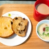 ちょっと栄養朝ごパン〜簡単スープと一緒