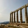 ポセイドン神殿 サンセットの中で @ギリシャ