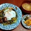 幸運な病のレシピ( 2336 )昼:ビーフン炒め(ゴーヤと茄子)