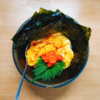 4/30(木)和風オムライス(?)、牛ステーキ