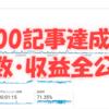 100記事更新達成!初心者がブログを100記事書いた結果はどうなるのか!!【PV数・収益等全部公開】