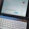 【タブレット用Bluetoothキーボードと角度自在手帳型タブレットカバー】と【子どもの学習用タブレットとしてのiPad】