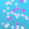 「桜ぽつぽつ・乱れ咲き」ビスケット・プログラミングアニメーション