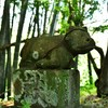 愛嬌のある牛像 福岡県宮若市