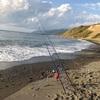 厚田で竜巻の中、秋の釣り