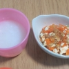 離乳食中期(7ヶ月)☆メニュー『豆腐とお野菜のおかか和え』『野菜のあんかけうどん』初めてのうどんはもぐもぐするのが難しかった!【レシピ付き】
