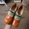 俵型した女性に親しみやすい革靴?