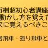 【将棋超初心者講座①】駒の動かし方を覚えたら、次に覚えるべきこと【居飛車・振り飛車とは】