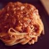 玉葱と塩胡椒とオイルと瓶トマトとお味噌のみの  シンプルトマトソースのフェットチーネ
