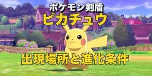 【ポケモン剣盾】ピカチュウの入手方法・出現場所と進化条件