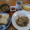 モヤシ炒めと茄子とモヤシの味噌汁