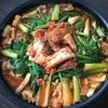 ナムルとキムチ鍋