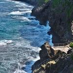 「真栄田岬(まえだみさき)」~青の洞門へシュノーケルで行きたかったのですが。。。