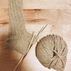 久しぶりのゆっくり編み物のひととき