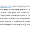 Windows10 Insider for Business で Bata Channel のサポートが行われるようになったようです