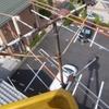 電柱上のアンテナ交換工事です。