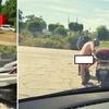 ヨーロッパ猛暑 ドイツ、バイクに全裸のおっさん現る