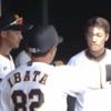 【練習試合】巨人ー中日、山本泰寛エラーで井端コーチからお叱りを受ける