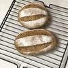 豆乳ゴマパン、卵巻きご飯とポテトグリル