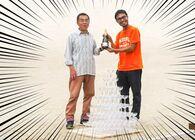 父の日を父とシャンパンタワーで祝う
